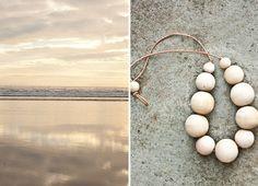 Le Voyage Creatif wooden bead necklace