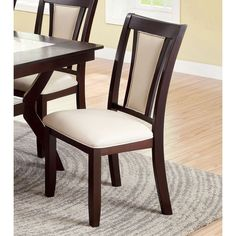 Furniture of America Dalcroze Modern Dining Chair Ivory Fabric Set of 2 * Learn more by visiting the image link. (This is an affiliate link) Dining Table Design, Modern Dining Chairs, Upholstered Dining Chairs, Dining Chair Set, Dining Room Chairs, Dining Room Furniture, Side Chairs, Dinner Chairs, Dinning Table