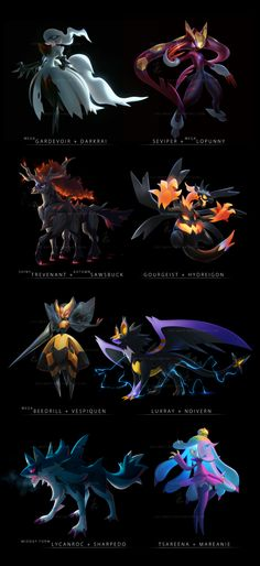 The luxray-noivern is beautiful