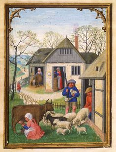 April Da Costa Hours, in Latin Illuminated by Simon Bening Belgium, Bruges ca. - Images from Medieval and Renaissance Manuscripts - The Morgan Library & Museum Medieval Books, Medieval Life, Medieval Manuscript, Medieval Art, Renaissance Art, Illuminated Manuscript, 7 Arts, Medieval Paintings, Book Of Hours