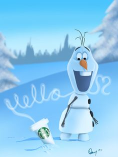 oh hello coffee im olaf by Dan Solo Galleries