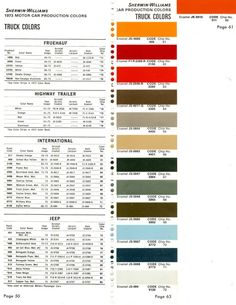 International scout paint colors