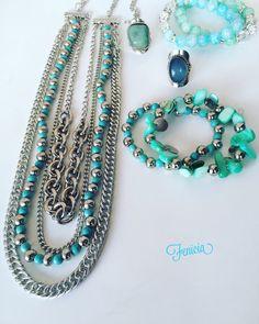 Collar Pechera De Cadenas Piedra Restituida - $ 349,99 en MercadoLibre Beaded Jewelry, Jewelry Bracelets, Jewelery, Beaded Necklace, Handmade Necklaces, Handmade Jewelry, Jewelry Sets, Jewelry Making, Beautiful Necklaces
