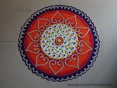 Beautiful and unique rangoli design | Easy and Innovative rangoli designs by Poonam Borkar - YouTube