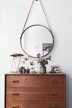 pretty minimalism on a dresser.