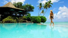 Swimsuit models Kate Upton, Nina Agdal, Chrissy Teigen and Lily Aldridge headed to Aitutaki in the Cook Islands for their exotic photo shoot in the Sports Illustrated 2014 Swimsuit Edition. Stay at the Pacific Resort Aitutaki, which has 27 bungalows, villas and suites that face the atoll's lagoon.