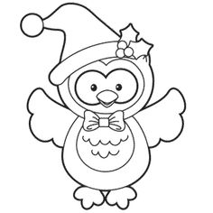Holiday Owl Coloring Page Free Christmas Recipes Coloring Pages