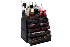 Almost every woman wants to keep her makeup at home. You can buy the one that is most suitable for your dressing room. These makeup organizers