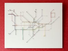 London Underground string map by Dan Coffey | 32 Imaginative And Beautifully Designed Maps