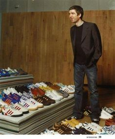 Noel Gallagher, one of the most well known adidas collectors