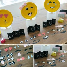 Emoji mask making and photo booth