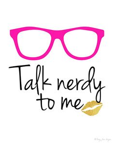 Nerd Glasses Art Print Nerd Glasses Printable by PennyJaneDesign