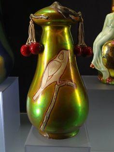 Zsolnay Art Nouveau Vase Art Nouveau, Art Deco, Vases, Tile Art, Pottery Vase, Porcelain Ceramics, Iridescent, Glass Art, Sculptures