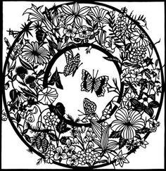 Susan L. Throckmorton — Wycinanka 'Wildflowers'  (650x670)
