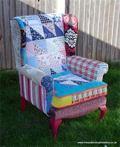 Image result for quilt covered chair