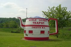 World's Largest Teapot in Chester, West Virginia
