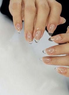 Nagellack Design, Nagellack Trends, Stylish Nails, Trendy Nails, Fancy Nails, Milky Nails, Minimalist Nails, Fire Nails, Chrome Nails
