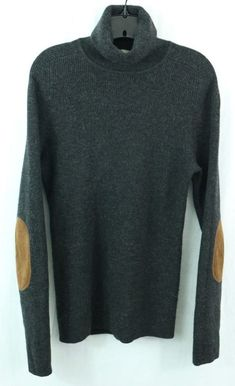 """CREW men's L Wool Turtleneck Sweater Shirt """"leather"""" elbow pads thermal Sweater Shirt, Men Sweater, Travel Outfits, J Crew, Turtle Neck, Pullover, Wool, Sleeves, Sweaters"""