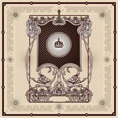 Vintage Antique Decorative Border Frame. Vector by VectorClash