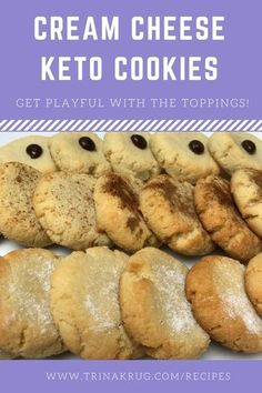 The Best Keto Cream Cheese Cookies Easy Keto Dessert - Cream Cheese Cookies (da bomb! Keto Desserts Cream Cheese, Cream Cheese Cookie Recipe, Cream Cheeses, Low Carb Sweets, Low Carb Desserts, Low Carb Recipes, Diet Recipes, Vegetarian Recipes, Peanut Butter
