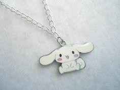 Cute+cinamoroll+bunny+rabbit+kawaii+cartoon+chain+charm+necklace+kitty+Jewelry