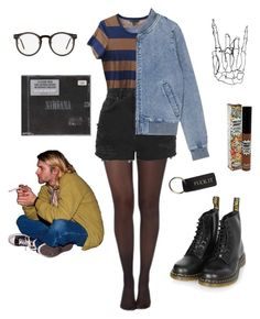 Rock on by lilianacf on Polyvore featuring polyvore, moda, style, Burberry, Pretty Polly, Topshop, Spitfire, TheBalm, fashion and clothing