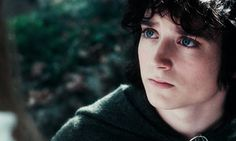 As the quest continues on, Frodo's expression steadily becomes more wistful and more burdened...
