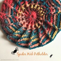 crochet pattern spider web potholder beanie slouchie design A potholder crochet pattern that can be modified to make a crochet slouchie, beanie, hat or even a cushion pattern. Newborn Crochet Hat Pattern, Crochet Potholder Patterns, Crochet Dishcloths, Crochet Yarn, Easy Crochet, Free Crochet, Crochet Geek, Crochet Mandala, Crochet Things