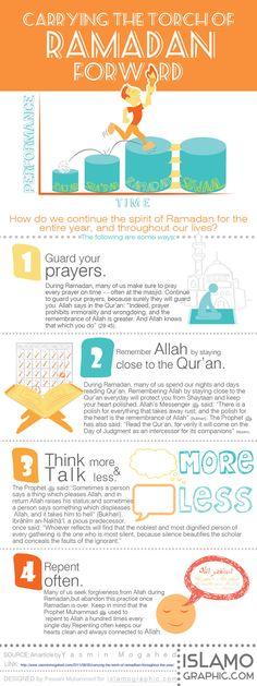 Carry the torch of Ramadan Forward... Good reminder!!!