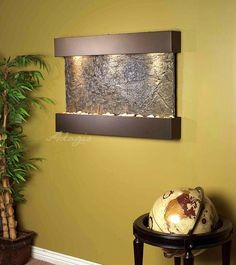 the reflection creek interior slate wall water feature wall water