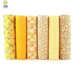 면 직물 반복 디자인 Yellower 시리즈 패치 워크 패브릭 지방 분기 번들 바느질 패브릭 6 개 50 센치메터 * 50 센치메터 A1-6-2