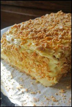 Polish Desserts, Polish Recipes, Sweet Recipes, Cake Recipes, Sans Rival, Sweets Cake, Food Cakes, Pavlova, Baked Goods