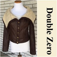Faux Leather Bomber Jacket Boutique purchased. Dark brown faux soft leather with faux wool lining. Worn less than five times. You'll love this with your favorite jeans & boots! Can be worn as a top with a simple cami underneath.                                                              Posh Rules  No Trades   No Pay Pal  Reasonable Offers Accepted   Smoke Free Home  No offers via comments please  Unless otherwise noted my clothing is gently used Double Zero Jackets & Coats
