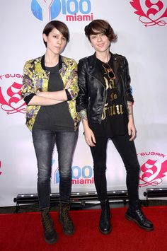 If you like collard shirts, hair mousse, and feelings, your celebrity sibling crew is Tegan and Sara!