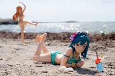 The sun is shining, it's hot and barely any wind; Go to the beach, of course! I brought two figures new to my collection for a trip to the nearest beach and it felt good to be … At the Beach Read Figure Photography, Anime Figures, Bikinis, Swimwear, Beach, Summer, Collection, Bathing Suits, Swimsuits