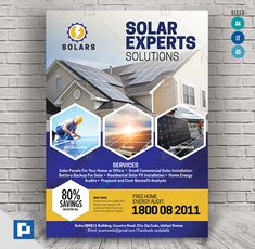 This Solar Energy Services Flyer has been develop to boost your marketing campaign. Solar Energy, Solar Power, Energy Services, Marketing Opportunities, Solar Installation, Power Generator, Flyer Design Templates, Generators, Graphic Design Inspiration