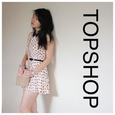 Topshop Playsuit Scottie Dog Adorable and flirty romper by Topshop with bow belt. Very good condition, true color shown in the first 2 pics Topshop Dresses Mini