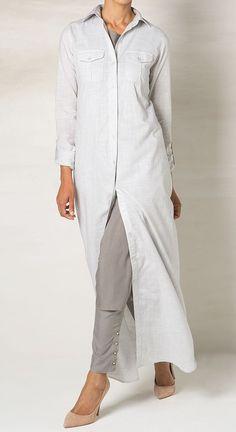 Long Shirt Soft Grey