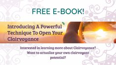 Michelle Beltran shares her free e-book on clairvoyance! Psychic Development, Psychic Mediums, Psychic Abilities, Spirit Guides, Fitness Tips, This Or That Questions, Learning, Health, Salud