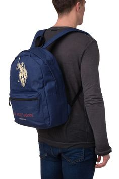 Backpack Logo Emblems Zipped Two Adjustable Strap BAG044  fashion  clothing 6c3b72cf7f197