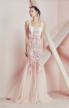 Pink Mermaid Dress from BASIL SODA Couture SS 2015