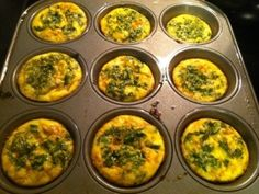 Egg Muffins.  Quick, healthy, on the go breakfast.