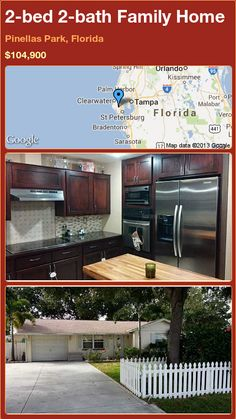 2-bed 2-bath Family Home in Pinellas Park, Florida ►$104,900 #PropertyForSale #RealEstate #Florida http://florida-magic.com/properties/77078-family-home-for-sale-in-pinellas-park-florida-with-2-bedroom-2-bathroom