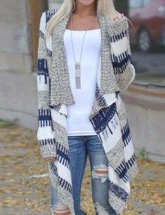 Women Irregular Long Sleeved Ethnic Printed Asymmetric Cardigan