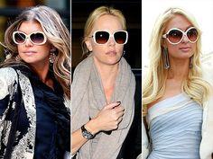 Celebrities in white shades