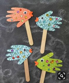 Tinker with children – 20 ideas with the various materials Toddler Crafts, Toddler Activities, Crafts For Kids, Arts And Crafts, Children Crafts, Craft Activities, Paper Crafts, Shark Week Crafts, Fish Crafts
