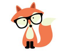 hipster fox svg dxf file instant download silhouette cameo cricut clip art