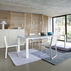 "This one is perfect! Ligne Roset Bianco Extension table, goes from 60""l to 78"", 98"" or 118"""