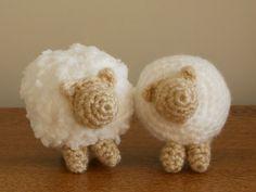 Crocheted Sheep - Free Amigurumi Pattern here: http://www.craftycattery.com/2013/01/amigurumi-nativity-crocheted-sheep.html