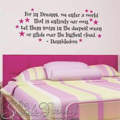 A custom vinyl wall lettering verse decal from the classic Harry Potter series... Perfect dream quote for kid's room or any Dumbledore fan! #HARRYPOTTER #harrypotterquotes #harrypotterparty #harrypotterfandom #harrypotterart #harrypotterdecor #dumbledore #dumbledorequotes #kidsroom #kidsroomdecor #library #librarydecor #homedecor #playroomdecor #dreams #inspirational #teenroom #teenroomdecor #TheSimpleStencil #wallquotes #wallstickers #wallart #walldecor #walldecorideas #wallstickers…